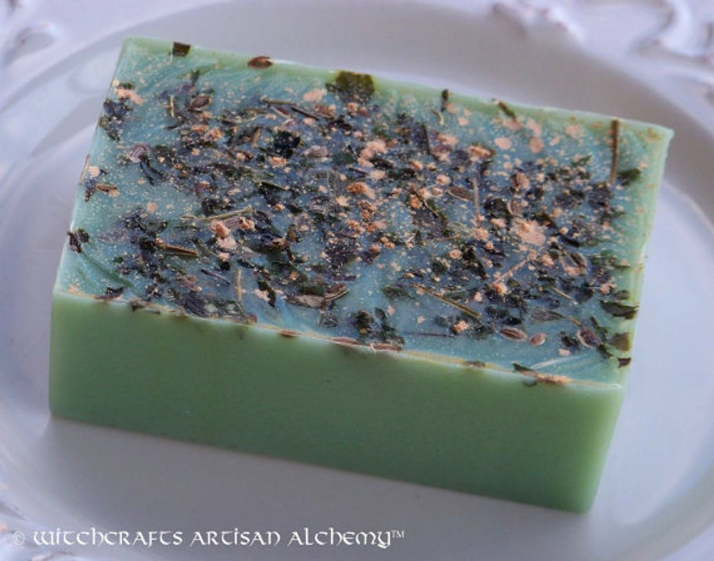 GREENFINGERS Double Luck Herbal Conjure Soap w/ 24k Gold Dust