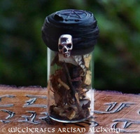 WITCH'S SHIELD Skull Charmed Witch Bottle