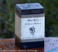 GHOST RALLY Old European Signature Square Pillar Candle