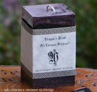 DRAGON'S BLOOD Old European Signature Square Pillar Candle
