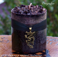 DRAGONFYRE Old European Dragon's Blood Pillar Candle