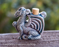 DRAGON SPIRIT Ceramic Pendant Potion Bottle