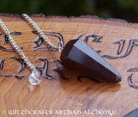 Garnet Faceted Pendulum Point