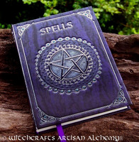 SPELLS Purple and Silver Pentacle Spell Journal