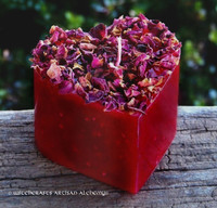 BEWITCHING WITCH'S HEART Gothic Red Shaped Pillar Candle