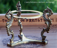 Brass Dragons Crystal Ball Stand