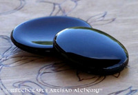 BLACK ONYX Scrying Palm Stone