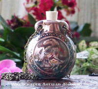 RAVEN Ceramic Bead Pendant Oil Bottle Necklace