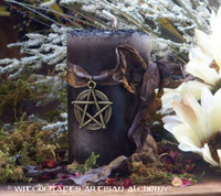 """OLD ENGLISH ALCHEMY """"Old European Witchcraft"""" Pillar Candle"""