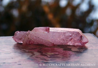 Pink Rose Aura Quartz Crystal Cluster 75mm