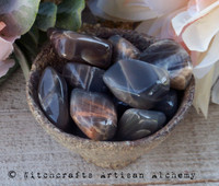 DARK MOONSTONE Tumbled Gemstone