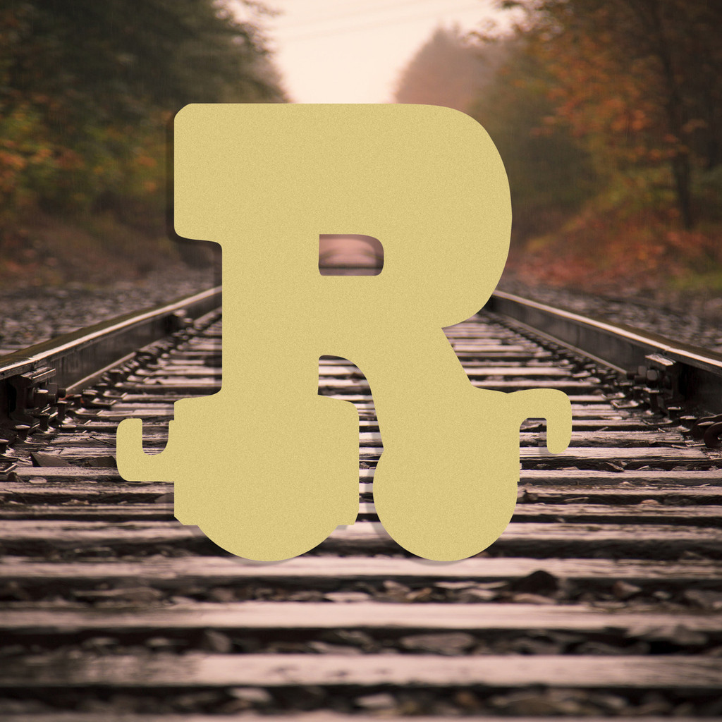 Train Letters Wooden Wall Letters Paintable MDF Craft Unfinished ...