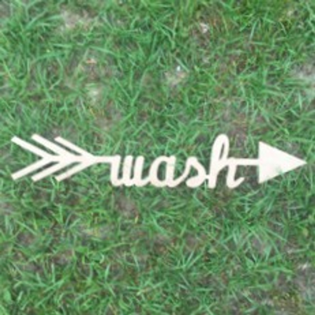 Arrow with word inside (wash) DIY Unfinished Craft Shape