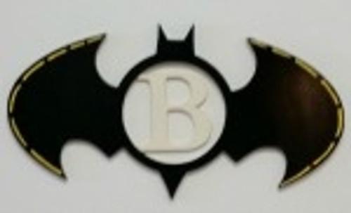 Bat Frame Letter Insert Wooden Monogram Unfinished DIY Craft