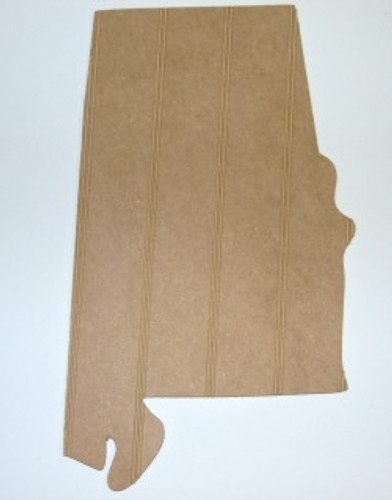 Wood State Alabama Unfinished Beadboard, Paintable  MDF DIY Craft