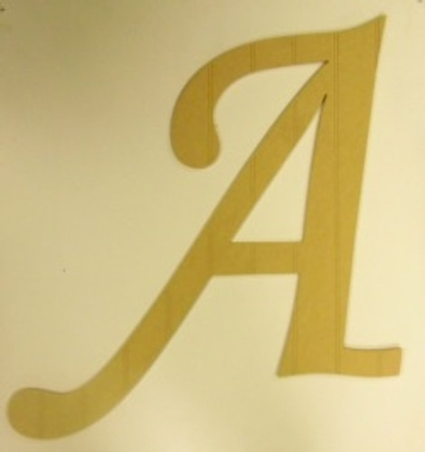 Wooden  Letter Cutouts Beadboard Alphabet Monotype Letters Wall Craft