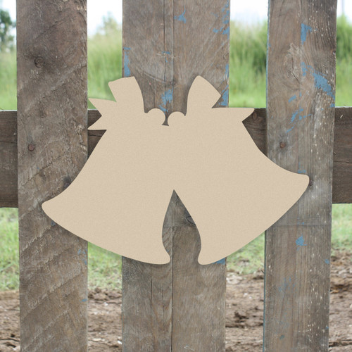 Christmas Bells Unfinished Cutout, Wooden Shape, Paintable DIY Craft