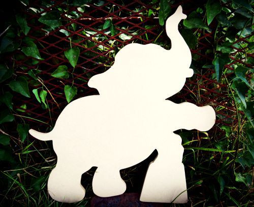 Circus Elephant Unfinished Cutout, Wooden Shape,  Paintable MDF DIY Craft