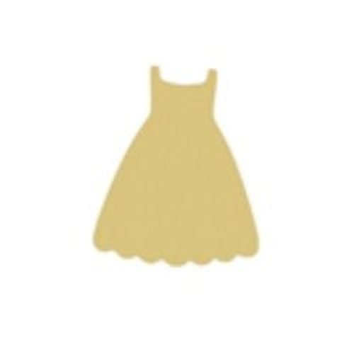 Dress Unfinished Cutout, Wooden Shape, Paintable Wooden MDF DIY Craft