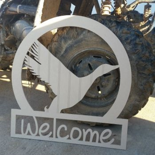 Duck Sportsman Welcome Sign Beadboard Unfinished DIY Craft