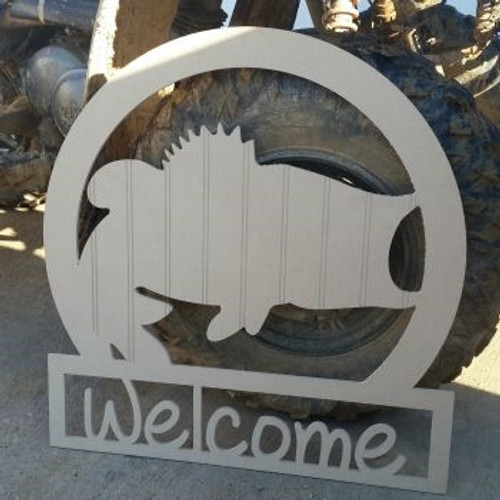 Fish Welcome Sign, Beadboard Unfinished  DIY Craft