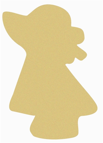 Girl Unfinished Cutout, Wooden Shape, Paintable Wooden MDF
