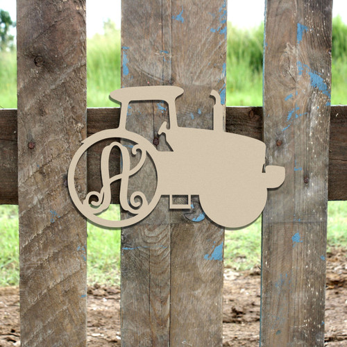 Farm Tractor Wooden Letter Monogeam DIY Unfinished Crafts