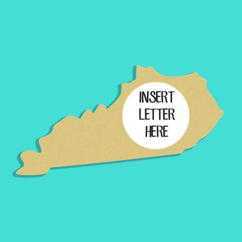 Kentucky Frame Letter Insert Wooden Monogram Unfinished DIY Craft
