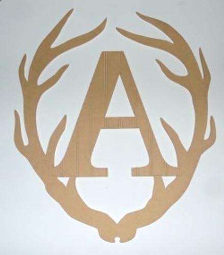 Wooden Antler Monogram Letter, Beadboard Unfinished  DIY Craft