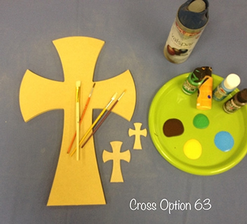 Unfinished Wooden Cross Paintable Wall Hanging Stackable Cross 63