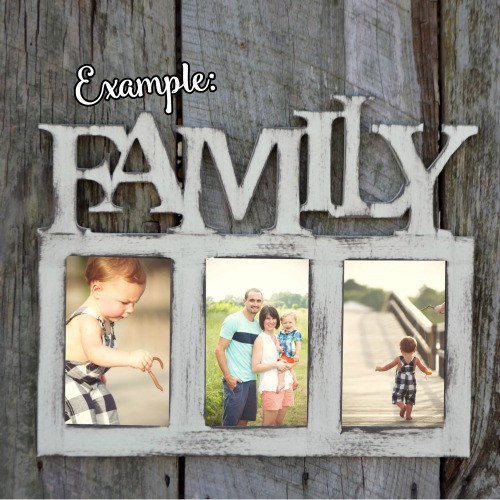 FAMILY Photo Picture Frame Unfinished, DIY