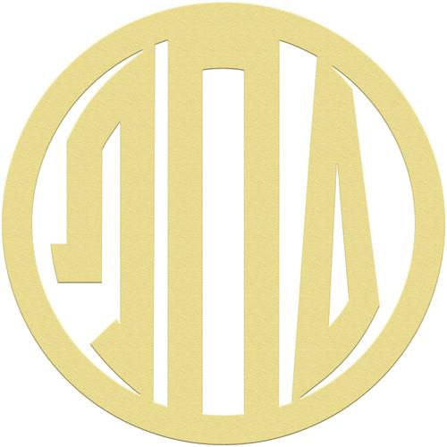 Unfinished Circle GREEK Wooden 3-Alphabet Letter Monogram