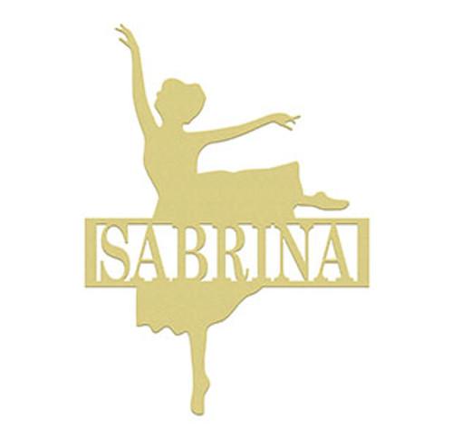 Ballerina Frame Family Name, Unfinished Framed Monogram