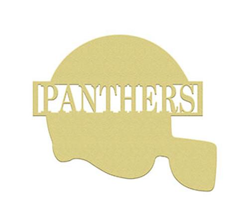 Football Helmet 2 Frame Family Name, Unfinished Framed Monogram