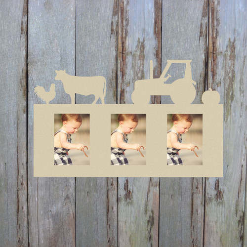 Farm Photo Picture Frame Unfinished, DIY