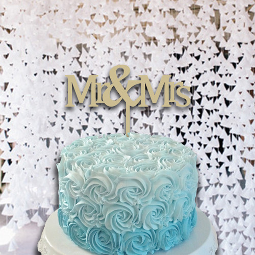 Cake Topper Mr & Mrs Monogram Wooden Unfinished Uppercase Alphabet Letter, DIY Craft