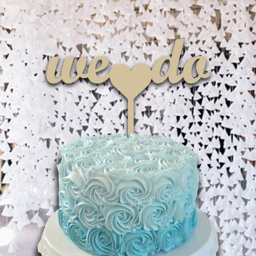 Cake Topper We Do Wooden Unfinished Uppercase Alphabet Letter, DIY Craft