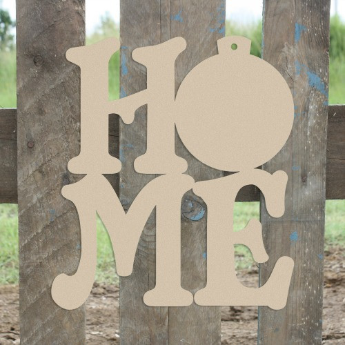 Home Christmas Ornament Sign Wall Art Wooden DIY Craft MDF