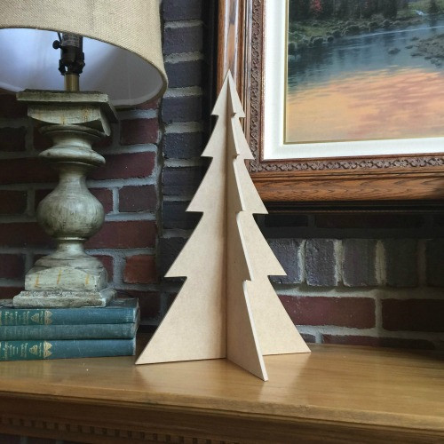 "Free Standing Table Top Christmas Tree (large, 18"") , Unfinished MDF"