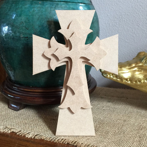 Unfinished Free Standing Cross Kit, #13
