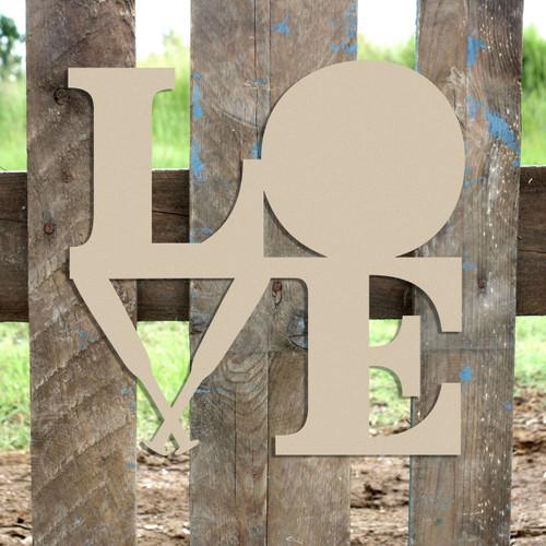 Love Baseball Bats and Ball Sign Wall Art Wooden DIY Craft MDF