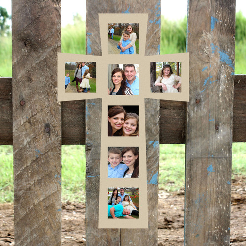 4x4 Cross Picture Frame 7(4x4), Wood Art, Unfinished Wood Frame, Wall Decor
