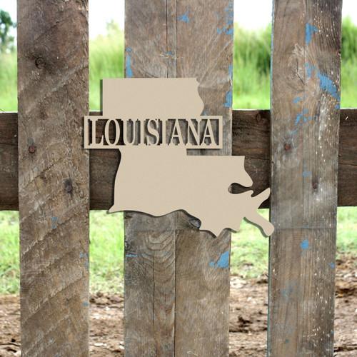 Louisiana Frame Family Name, Unfinished Framed Monogram