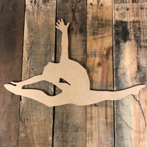 Gymnast Split Unfinished Gymnastics Cutout Wood Shape