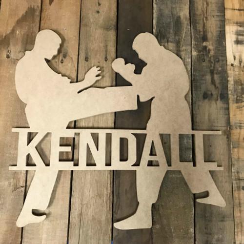 Karate Frame Unfinished Framed Monogram