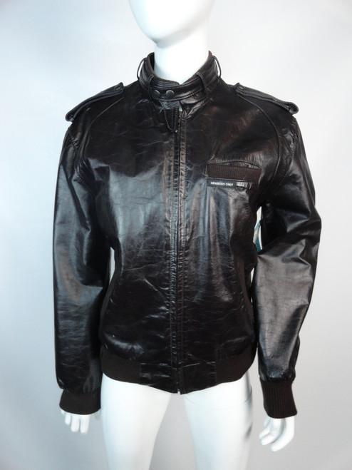 "Vintage 80's Oxblood ""Member's Only"" Leather Jacket"
