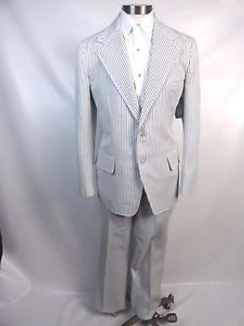 """Vintage 70's """"Haspel"""" Seersucker Suit"""