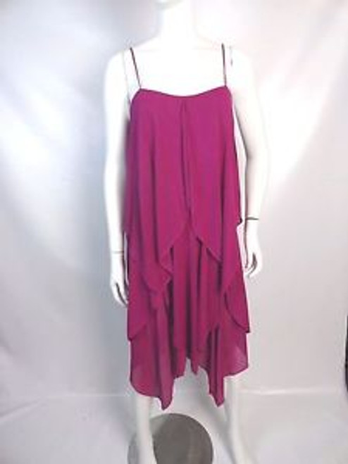 Vintage 70's Fuchsia Handkerchief Disco Dress