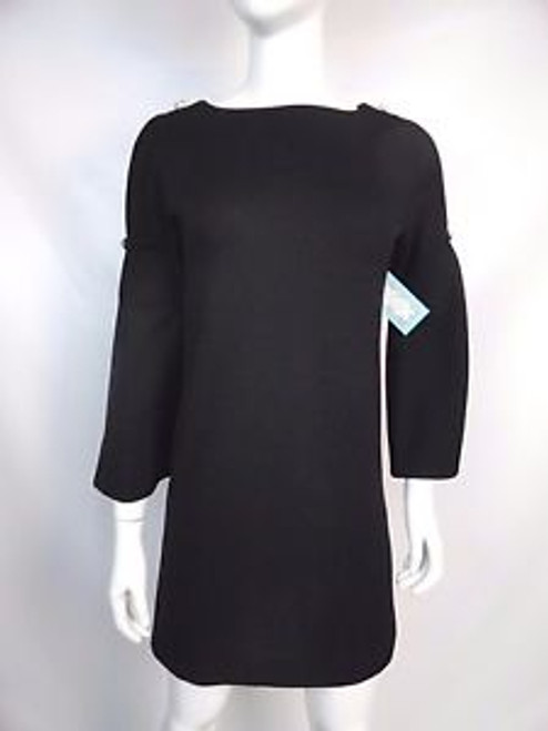 Vintage 60's Black Mini Dress w/ Long Cut Out Sleeves SOLD