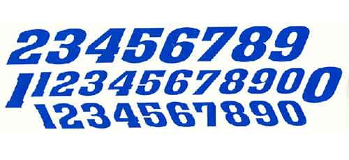 JK Pre-Cut Numbers - Blue - JK-20031BL